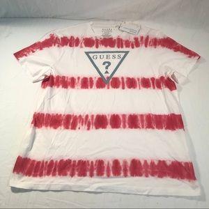 NWT Guess Tie Dye Triangle Logo Shirt